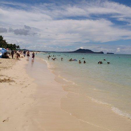Lanikai Beach: 左側(西)