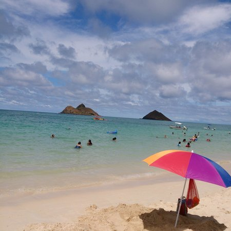 Lanikai Beach: 中央部正面