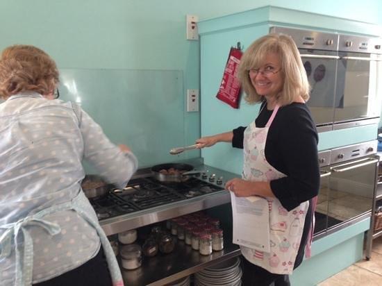 Ballyknocken Cookery School : my amazing sister cooking lamb