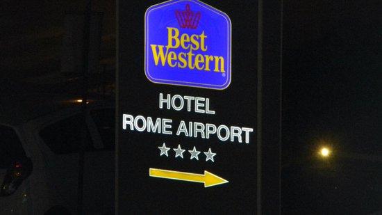 Best Western Hotel Rome Airport: cartel