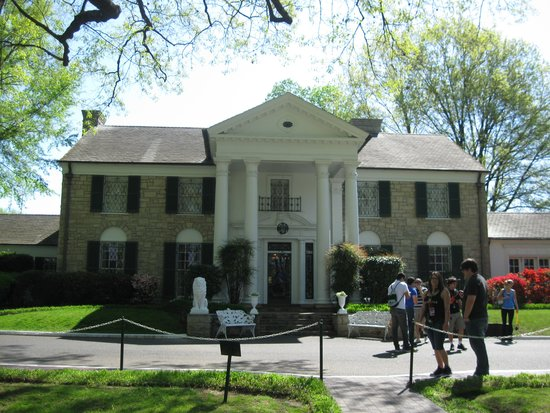 The front of Graceland in April.