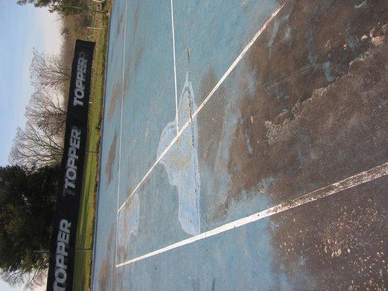 La Figura: Cancha de tenis en la actualidad