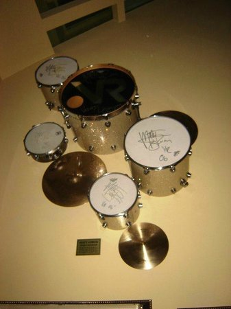 Matt Sorum S Drum Kit Picture Of Hard Rock Cafe Prague Tripadvisor