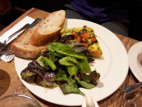 Le Pain Quotidien: Zucchini and feta frittata