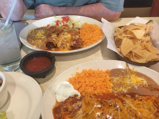 Taco Amigo: Table full of food