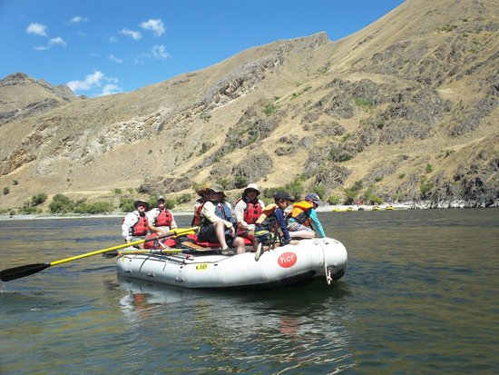 Hells Canyon Raft : One of the inflatable rafts