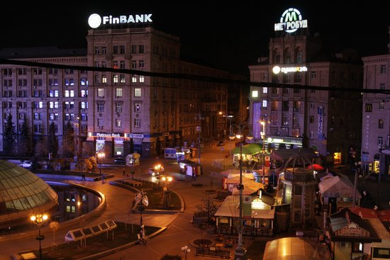 Maidan Nezalezhnosti (Independence Square): View to the square from our balcony.