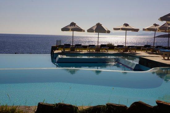 St. Nicolas Bay Resort Hotel & Villas : Pool and sea view- simply amazing, crete is gorgeous!