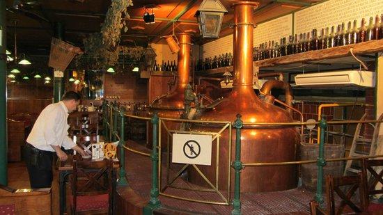 Restaurace Novomestsky Pivovar: Brewery.