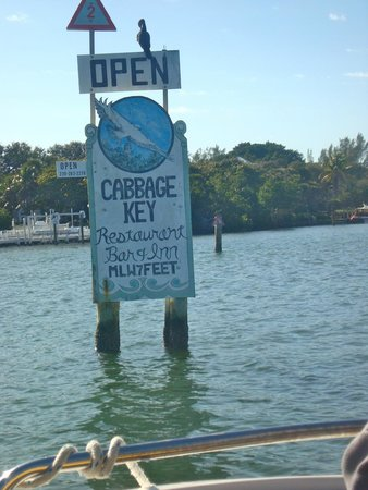 Cabbage Key channel sign