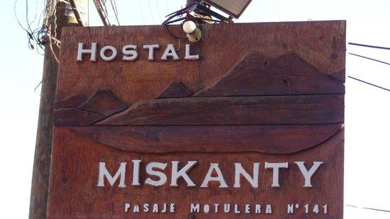 Hostal Miskanty: letrero