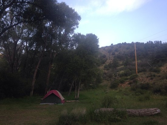 Cimarron Canyon State Park: View of a small portion of our site