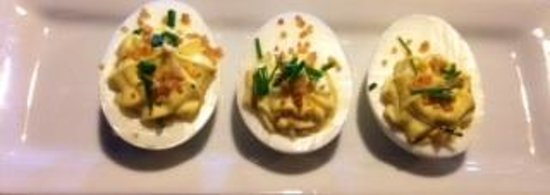 The Coach Sports Grille : Deviled Eggs with Crispy Quinoa & Chives