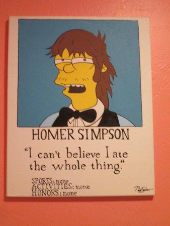 Moe's Tavern: Homer's Yearbook Photo