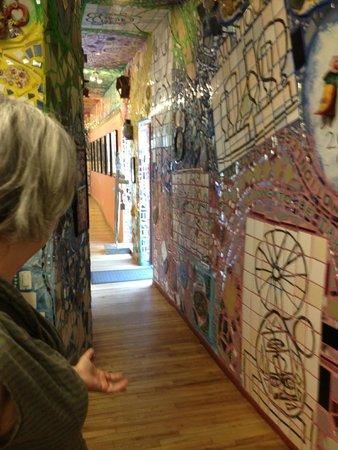 Philadelphia's Magic Gardens: indoors front room