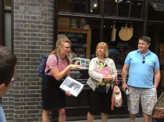 Eating London Tours: in front of the cheese shop