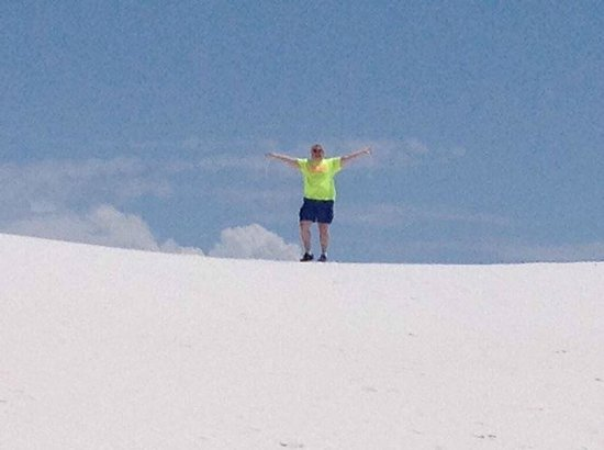 White Sands National Monument: The hills of white sands are alive with the sound of music...