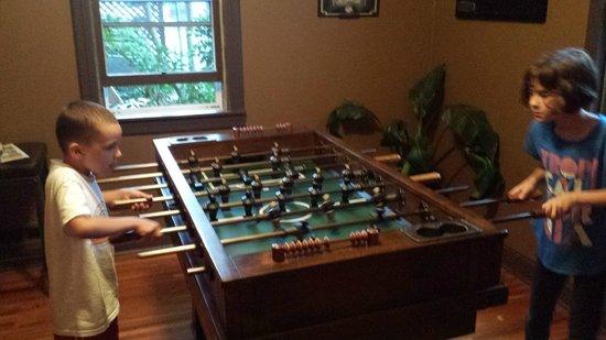 Blowing Rock Ale House & Inn: Foosball in the game room