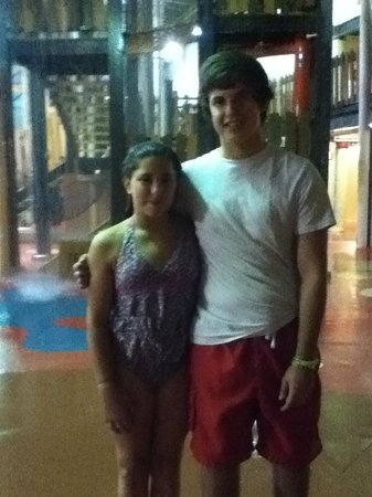 Double JJ Waterpark : The lifeguards were amazing and friendly as you can tell I got a picture with a cute one (David)