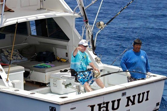 Deep sea fishing in kona hawaii picture of ihu nui kona for Kona fishing charters
