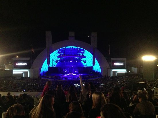 Hollywood Bowl Museum : lighting for Katy Perry, not the LA Phil
