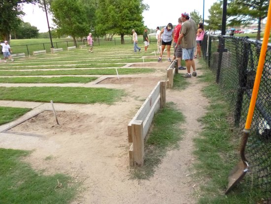 Towne Lake Recreation Area: horseshoes pits and players