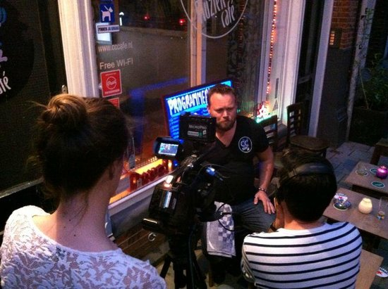 CC Music Cafe: Interview with CNBC, they marked CC café as the best live music venue of Amsterdam