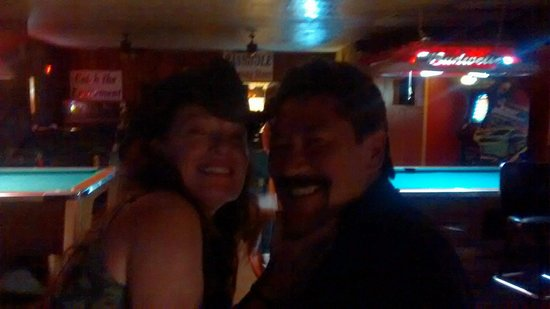 My Sister Connie & BF Pat (having fun at the Basshole resturant around the corner Lakehead Lodge