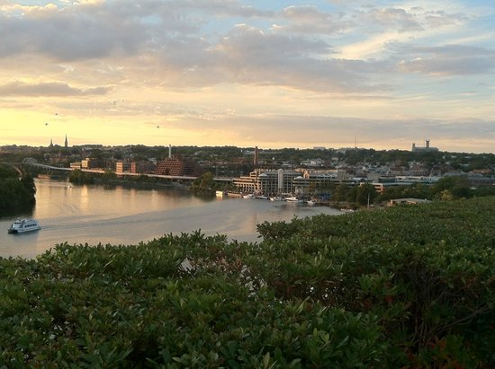 John F. Kennedy Center for the Performing Arts: View of Georgetown from the Terrace