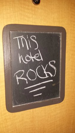 ACME Hotel Company Chicago: Chalkboard on each hotel room door for fun messages!