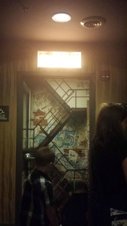 ACME Hotel Company Chicago: Fun painted door to the fire escape!