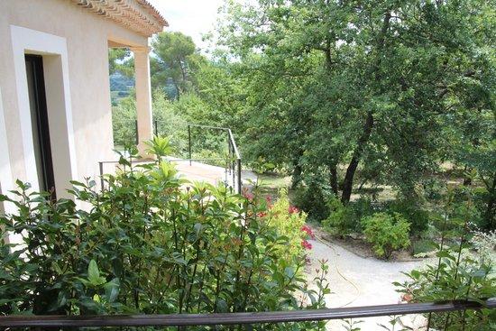 Au point de Lumière : View from the terrace of Alizarine