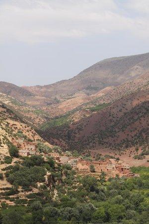 Douar Samra : View of the Atlas Mountains
