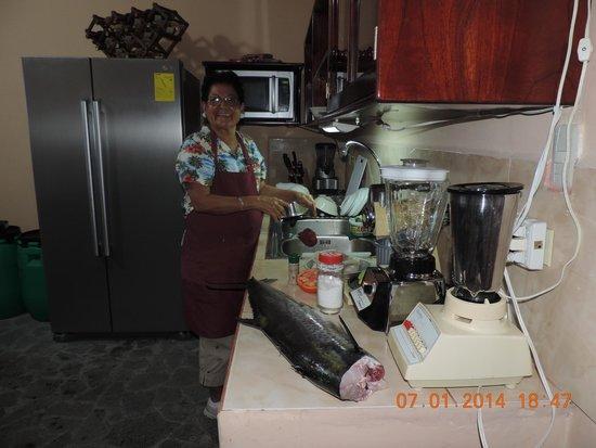 Booby Trap: Marlena preparing dinner
