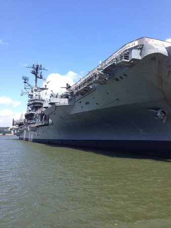 Intrepid Sea, Air & Space Museum: A view of the boat from the dock