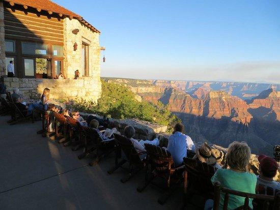 Grand Canyon Lodge - North Rim: Sunset at the North Rim