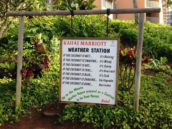 Kaua'i Marriott Resort : Hotel Weather Station