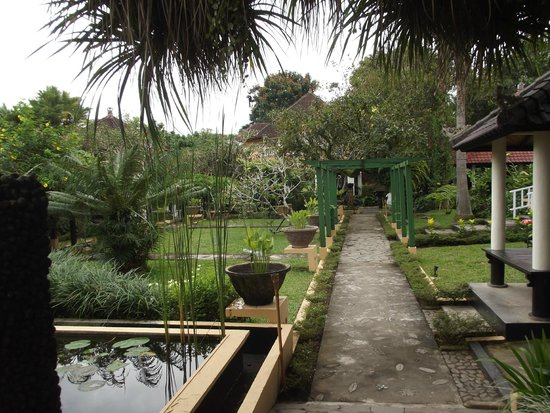 Ubud Villas and Spa: Grounds leading to reception