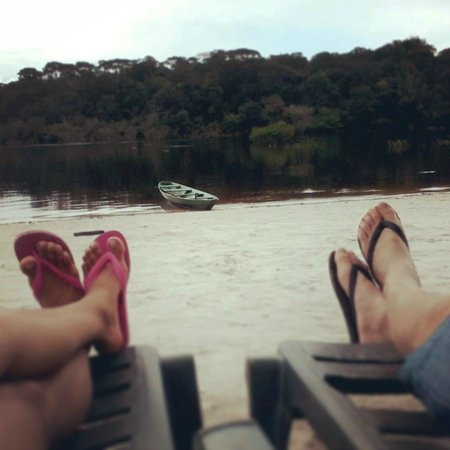 Amazon Ecopark Jungle Lodge: Praia e Rio
