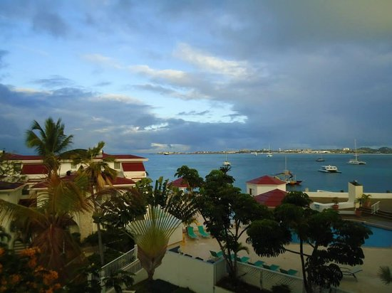 Simpson Bay Resort & Marina: View from my room - in the old building