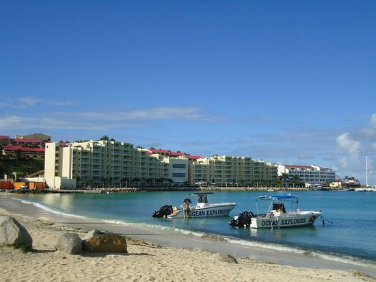 Simpson Bay Resort & Marina: Hotel Viewed from a nearby beach!