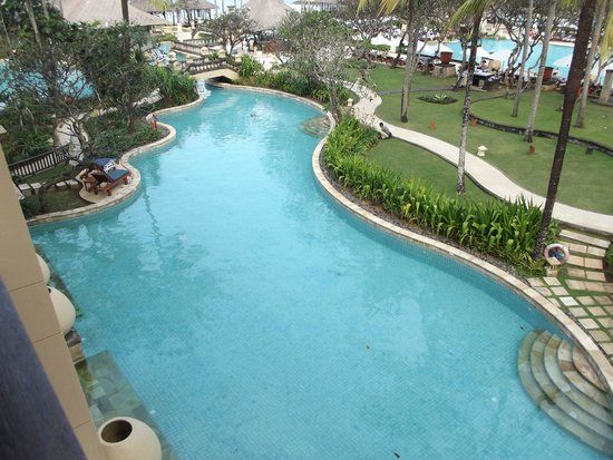 Conrad Bali : View of pool from our balcany