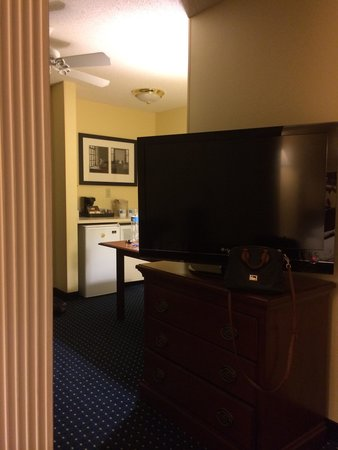 SpringHill Suites Atlanta Kennesaw: King size room (large TV)