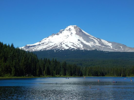 Trillium Lake: Mt. Hood view from the lake