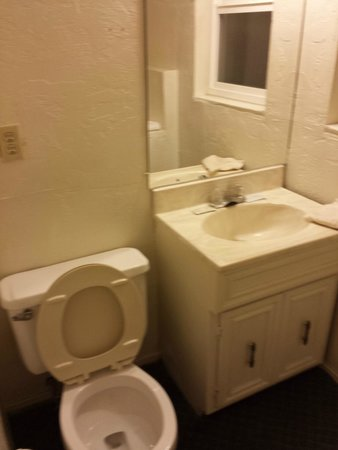 Travel Inn: Bathroom was small but usable. Lacks a fan but you can open a window.