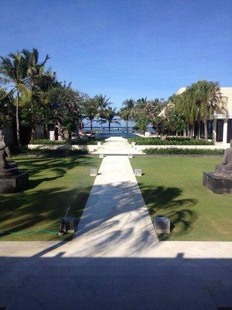 The Royal Santrian, Luxury Beach Villas: View from the Lobby