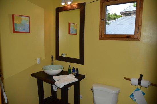 Utopia Village: Second floor bathroom.  Bring some window covering!