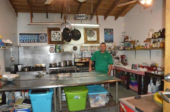 Utopia Village: The kitchen.
