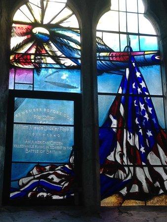 Boxgrove Priory: Billy Fiske III Memorial Window Boxgrove Church