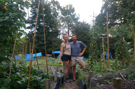 Fat Cat Eco Backpackers: The awesome gardener, Darren & I